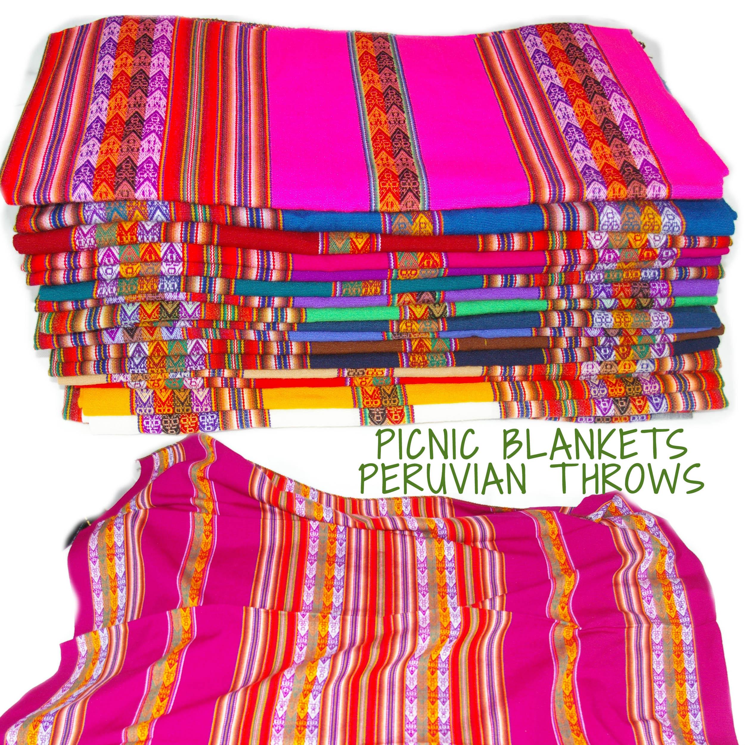 Peruvian Wool Throw Picnic blanket Bright coloursIdeal  : MediumPerublankets from www.soul-destiny.co.uk size 2500 x 2500 jpeg 1132kB
