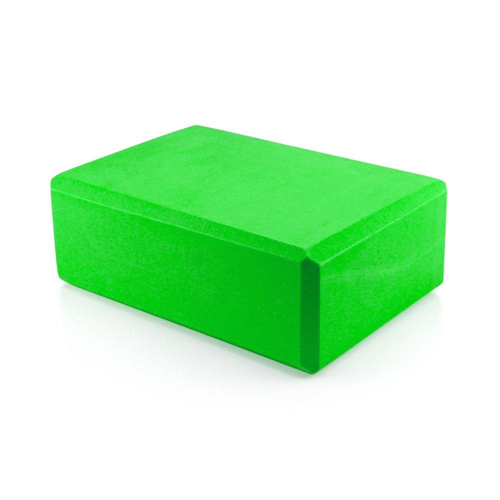 Yoga Block Pilates Foam Foaming Brick Stretch Health Fitness Exercise Gym Green