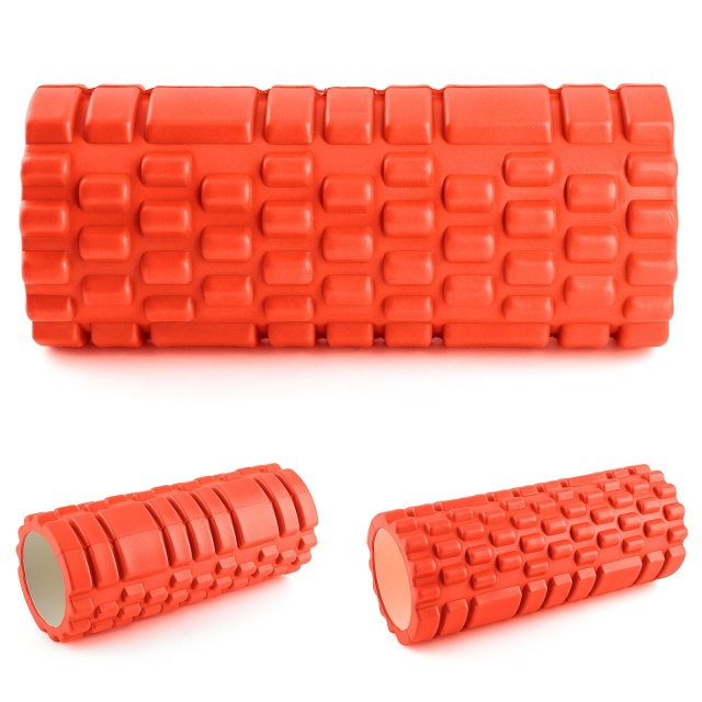 Orange Yoga Foam EVA Roller Exercise Trigger Point GYM Pilates Texture Physio MASSAGE