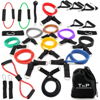 Resistance Bands Set 26 Piece Exercise Kit For Abs / Yoga / Travel / Workout