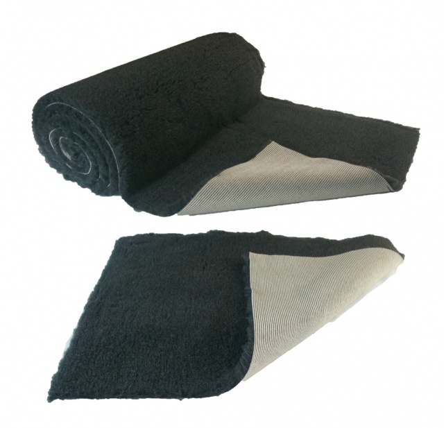 Charcoal Plain NON-SLIP Vet Bedding Fleece for Whelping dogs, puppies and old dogs PRO BED