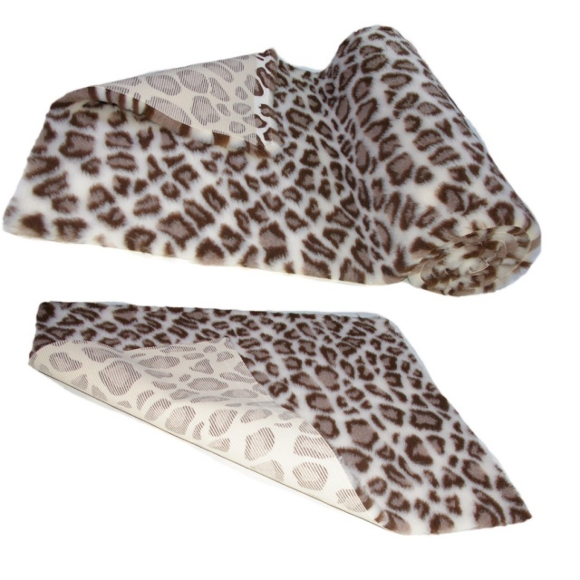 Leopard Print  High Grade Vet Bedding Non-Slip back Bed Fleece for Pets