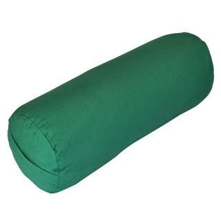 Green Yoga Bolster Cushion 100% Cotton