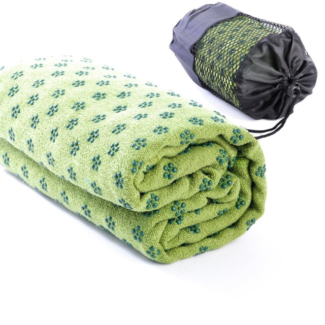 Green Yoga Towel
