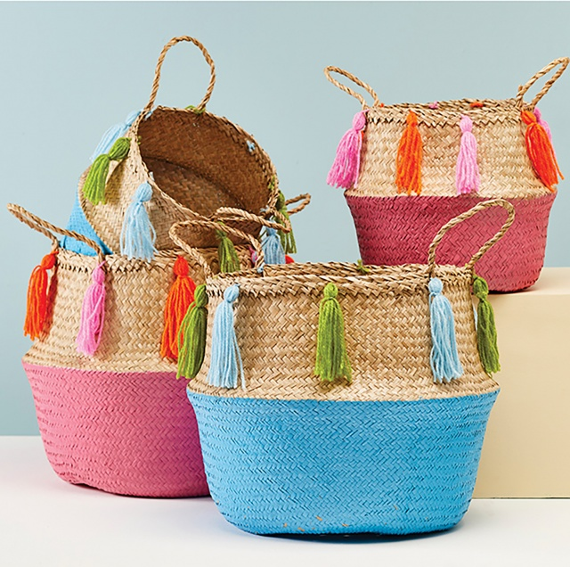 Seagrass Tassel Basket
