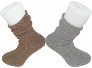 Alpaca Bed Socks Thick, soft and Warm, 90% Alpaca Wool  Brown and Grey
