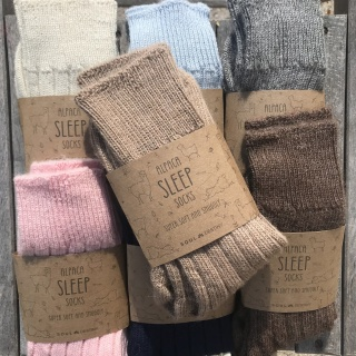 Alpaca Bed Socks, Thick, soft and Warm, 90% Alpaca Wool Made in England