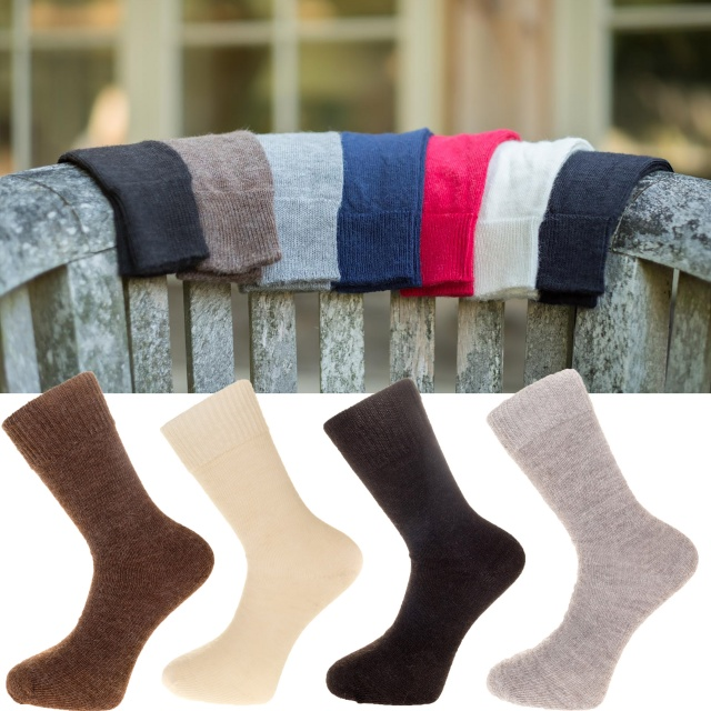 The Alpaca Every Day Socks  Natural