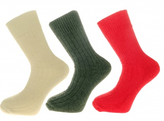 Gift Pack Idea D 3 pairs of Alpaca Walking Socks, Cushioned Sole, 75% Alpaca Wool.