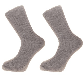 Alpaca Wool Walking Socks Cushion Sole and Heel Grey75% ALPACA WOOL