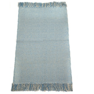 Souk Geometric hand-woven recycled cotton Rug 75cm x 135cm