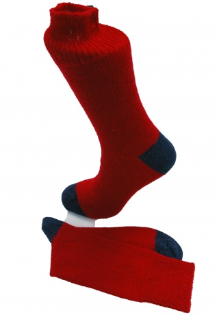 The Alpaca Every Day Heel and Toe Contrast Socks Red/Navy