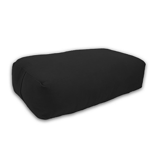 Rectangle BLACK Yoga Bolster Cushion 100% Cotton