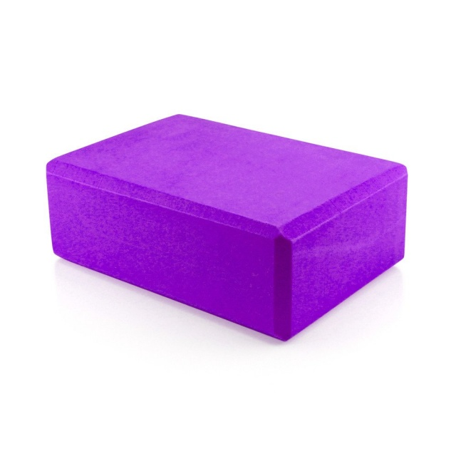 Yoga Block Pilates Foam Foaming Brick Stretch Health Fitness Exercise Gym PURPLE