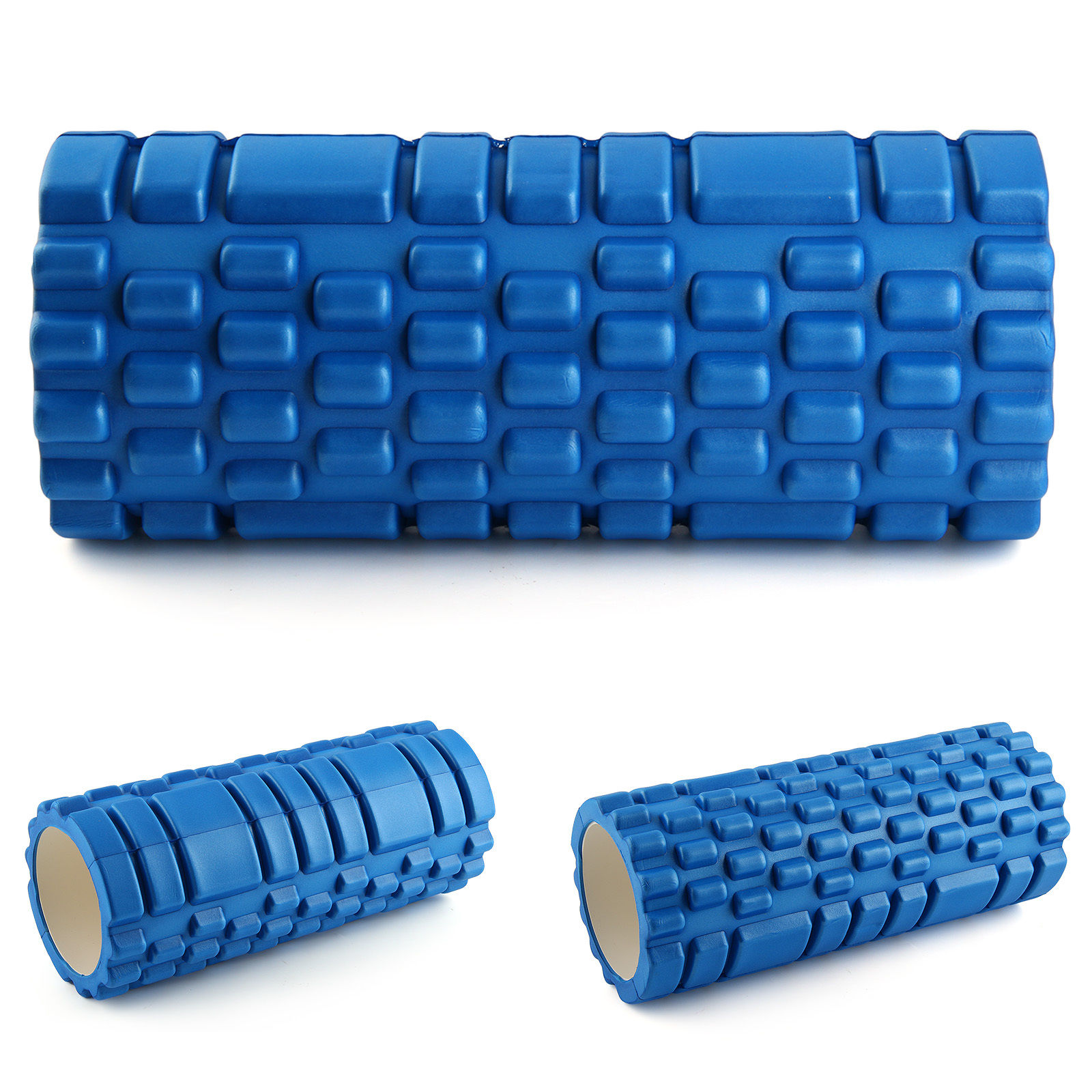 Blue Yoga Foam EVA Roller Exercise Trigger Point GYM Pilates Texture Physio MASSAGE