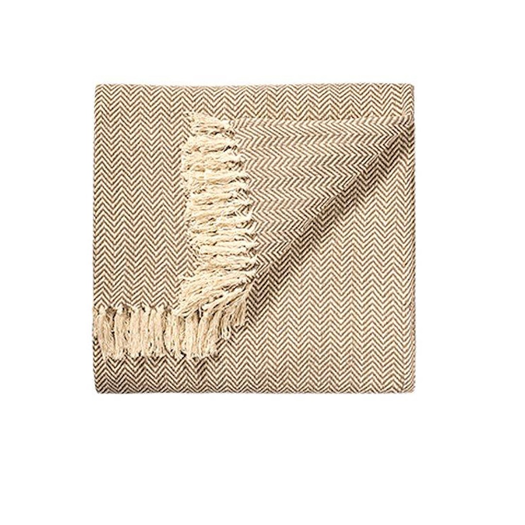 Natural Chevron Soft Cotton Handloom Blanket Throw