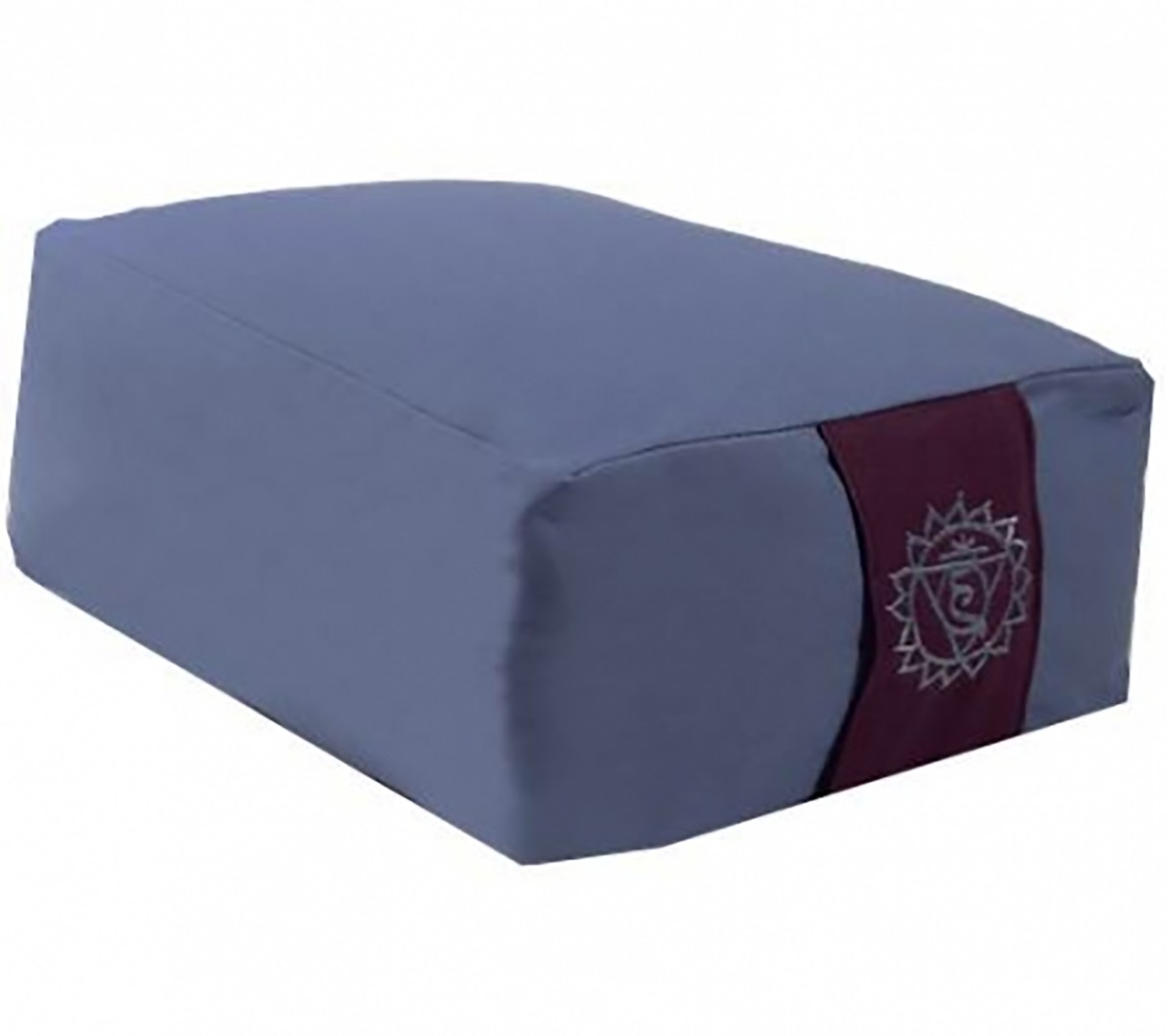 Blue Chakra  Rectangular Bolster Cushion. Size 38cm x 28cm x 15cm