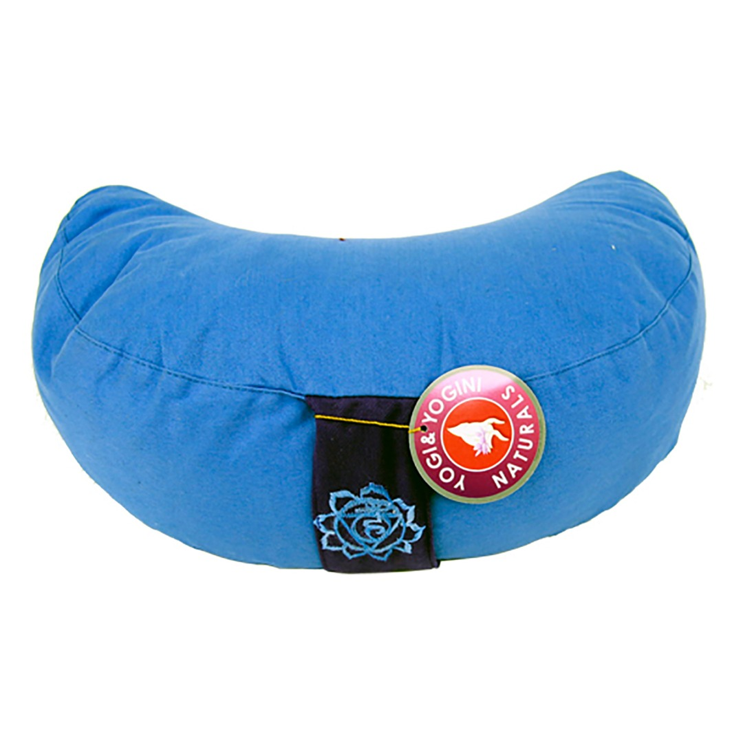 Crescent Moon Blue Chakra  Meditation Cushion  Dimensions: 33cm 13 cm