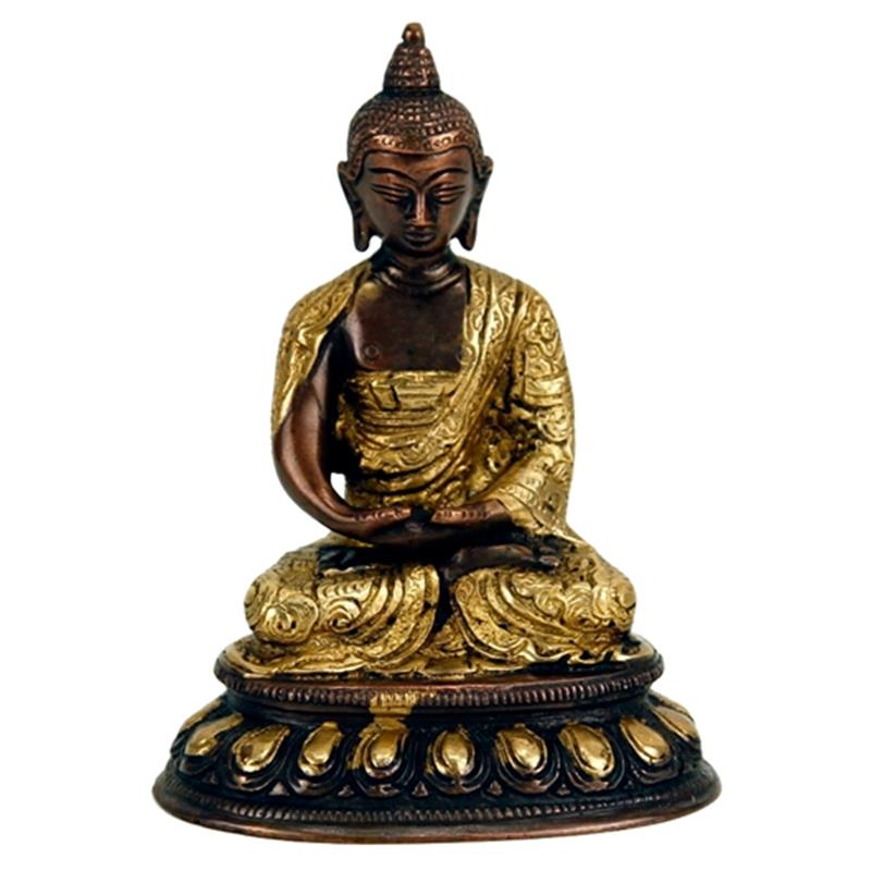 Buddha Amithaba statue two-coloured  Brass