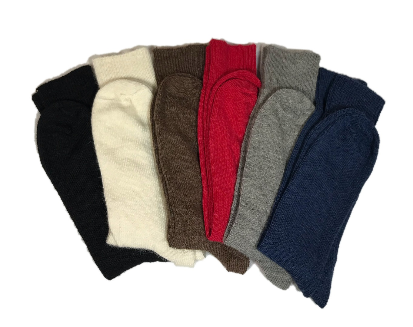 6 pairs of Alpaca Every Day Socks, 55% Alpaca Wool.  Alpaca Sock <br><br>Gift Idea K