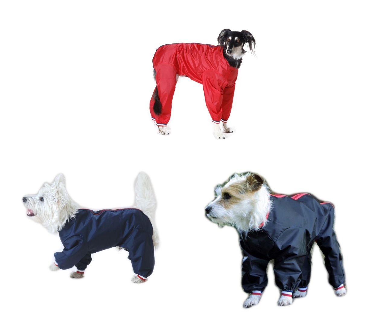 Waterproof Nylon Dog Trouser Suit  Dog Coat