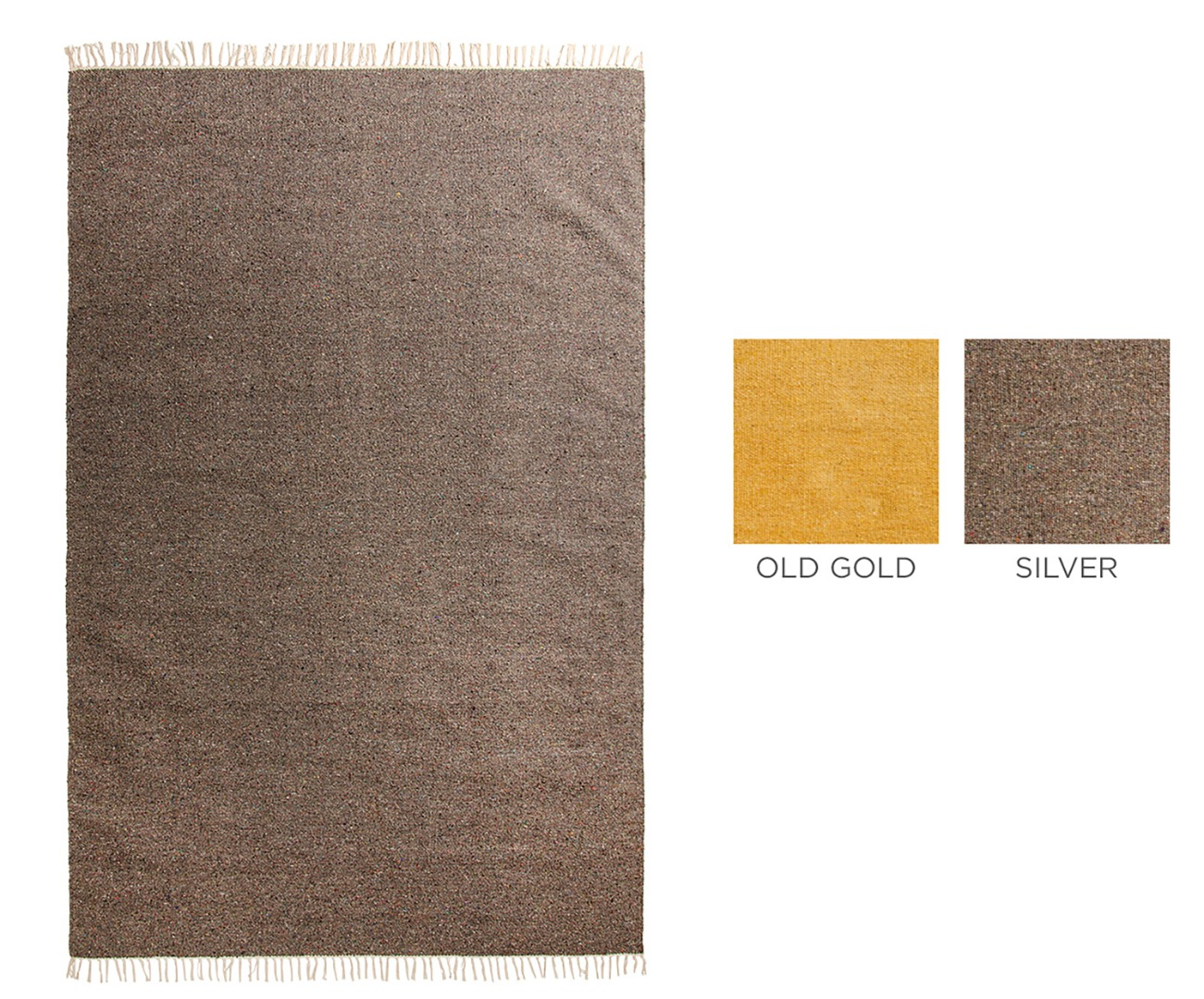 Plain coloured Cotton Yarn Recycled Rug  SIze 140cm x 200cm