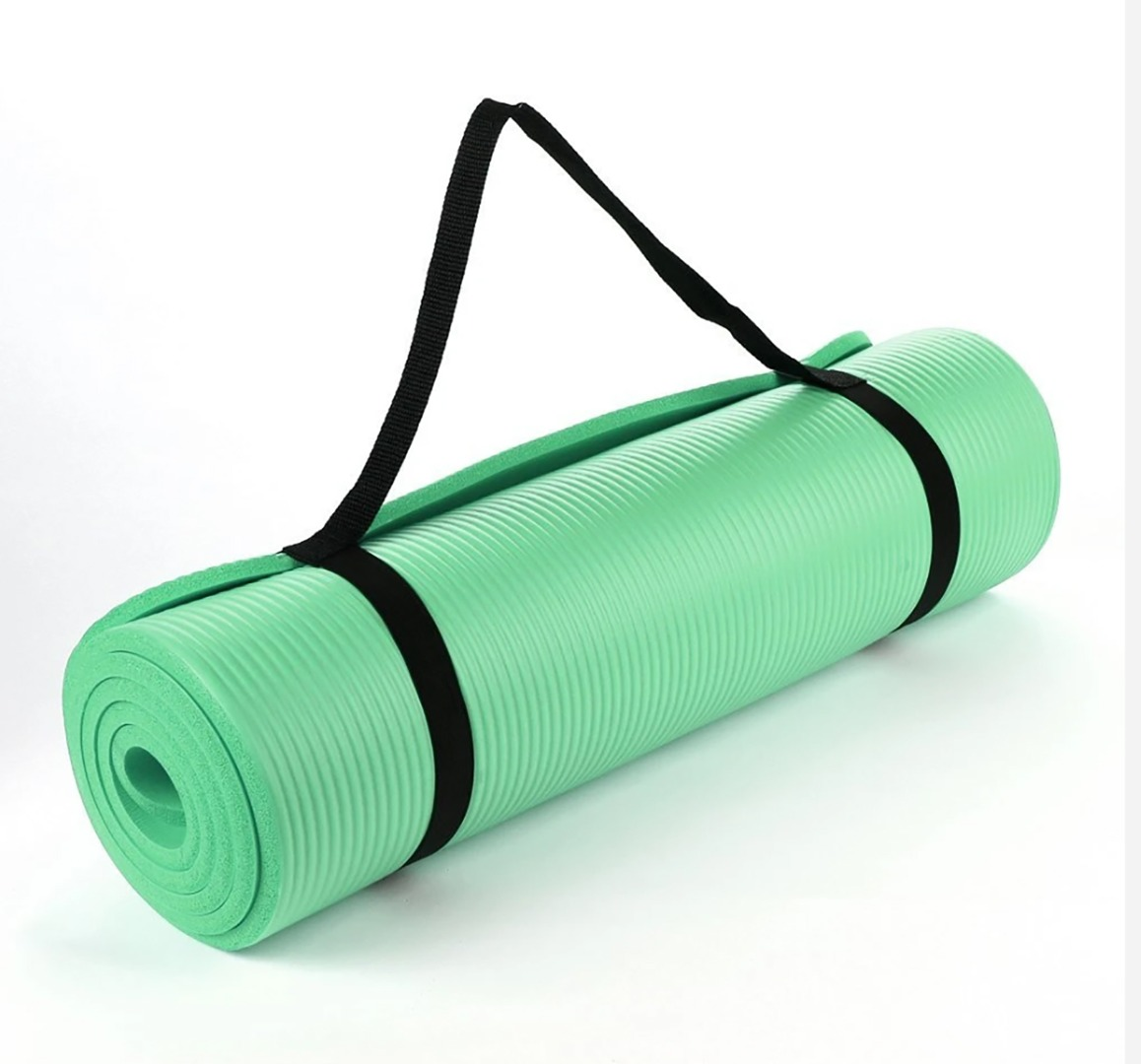 Dark Green 15mm Thick NBR  Exercise Fitness Gym Yoga Mat 190cm x 60cm