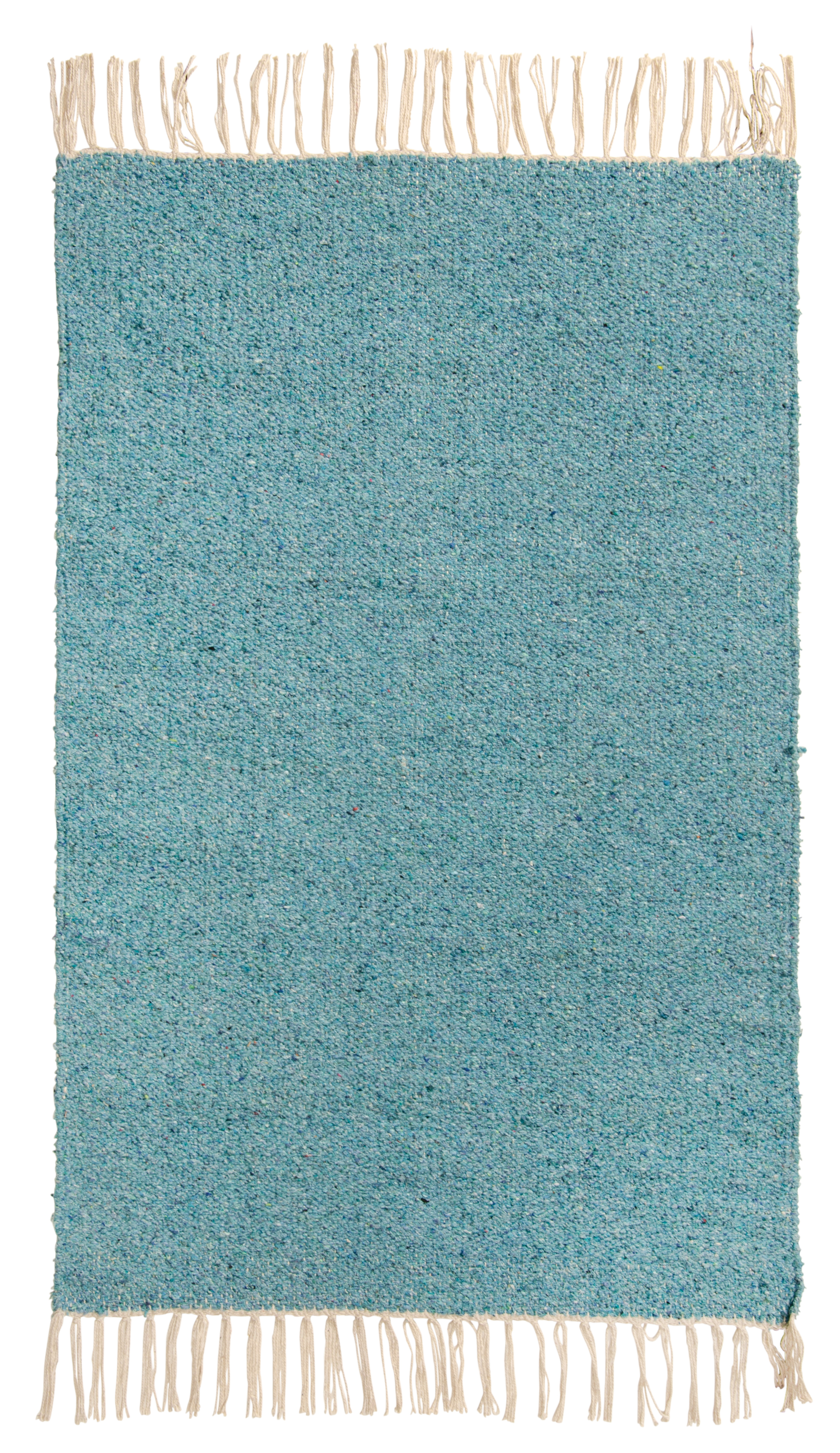 Plain Coloured Recycled Cotton Rug 60cm x 90cm in 11 Colours Fair Trade GoodWeave
