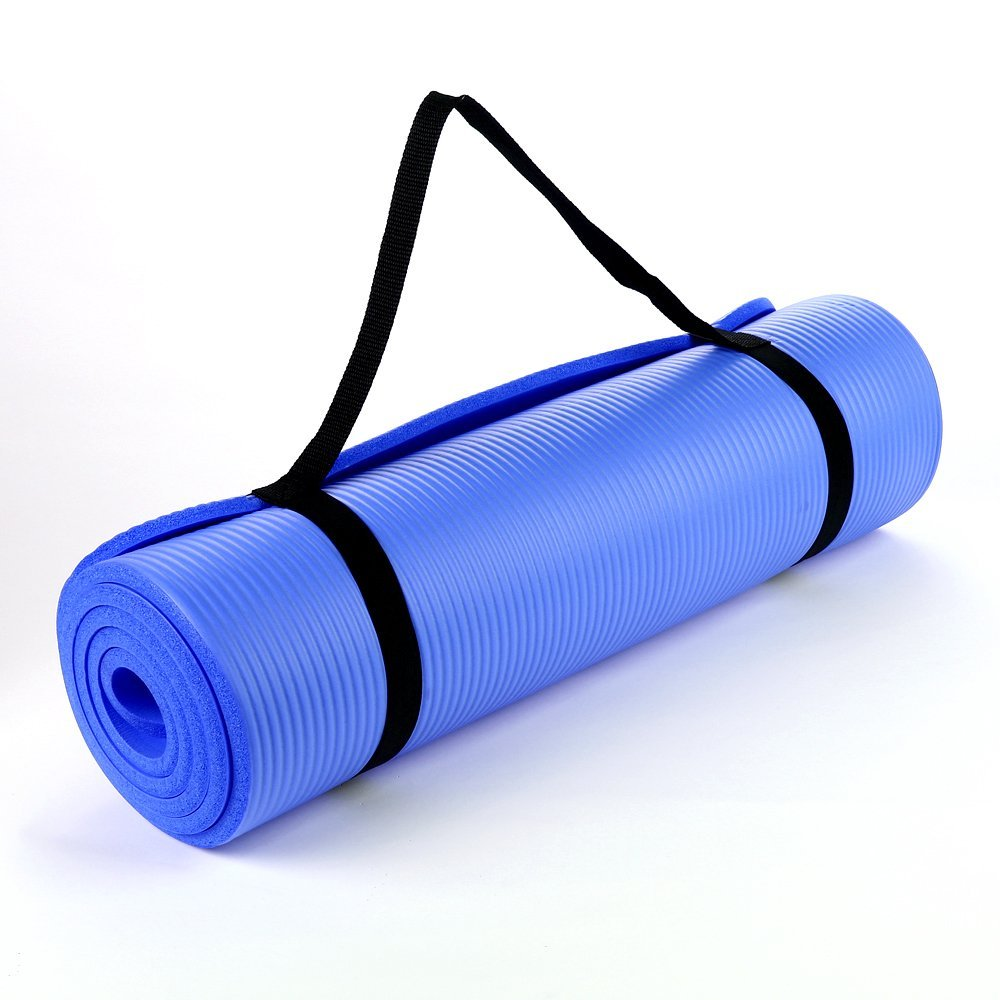 Blue 15mm Thick Exercise Fitness Gym Yoga Mat 190cm x 60cm