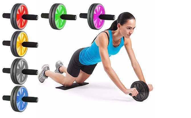 ABS Wheel, Abs Roller, Abdominal exercise, Gym fitness training Dual wheel