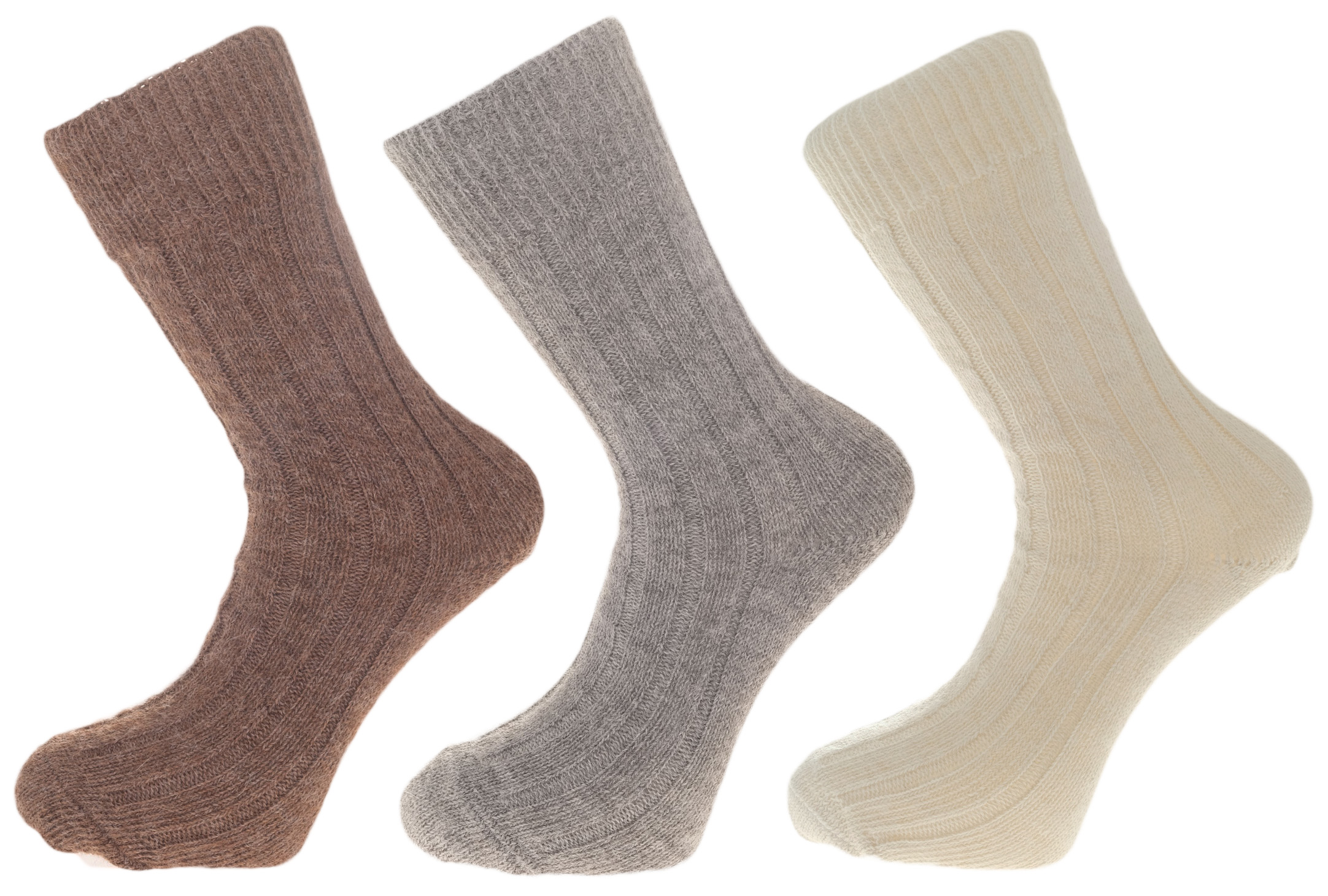Gift Pack Idea J 3 Pairs Of Alpaca Bed Socks, Warm and Soft, 90% Alpaca Wool. Alpaca Sock