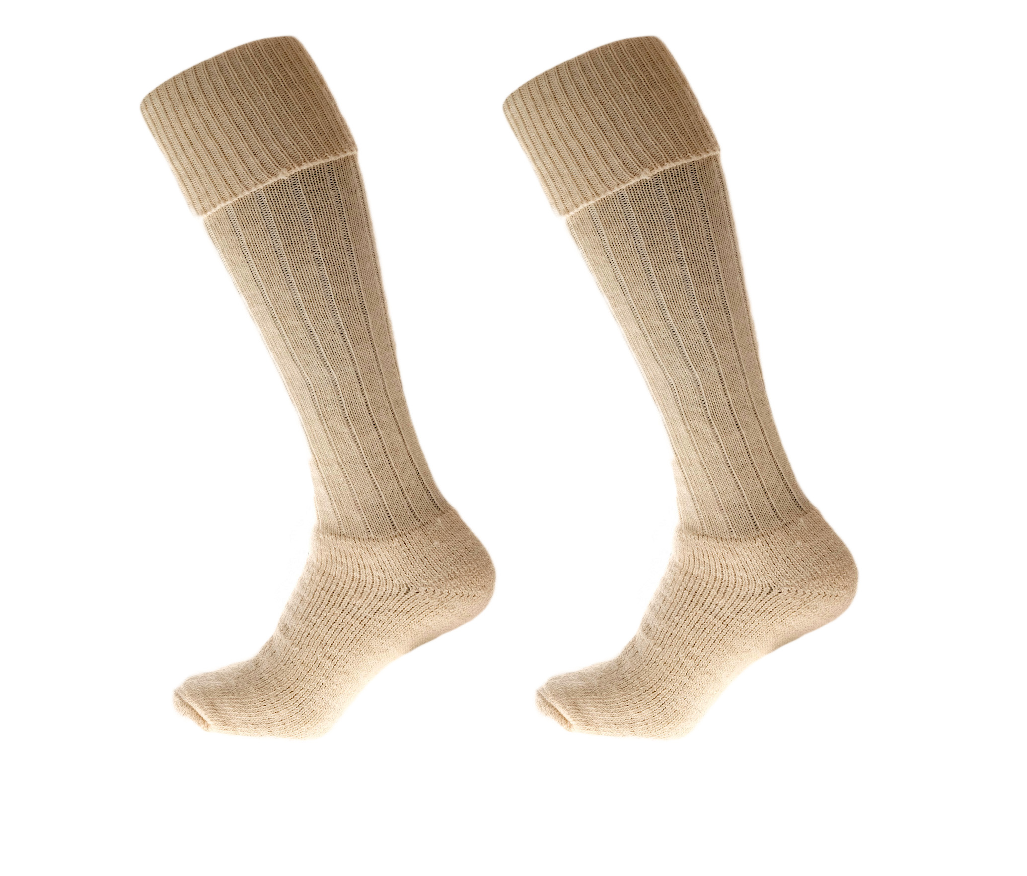 Alpaca Wool Long Country Socks Cream 75% Alpaca Wool cushioned sole and heel
