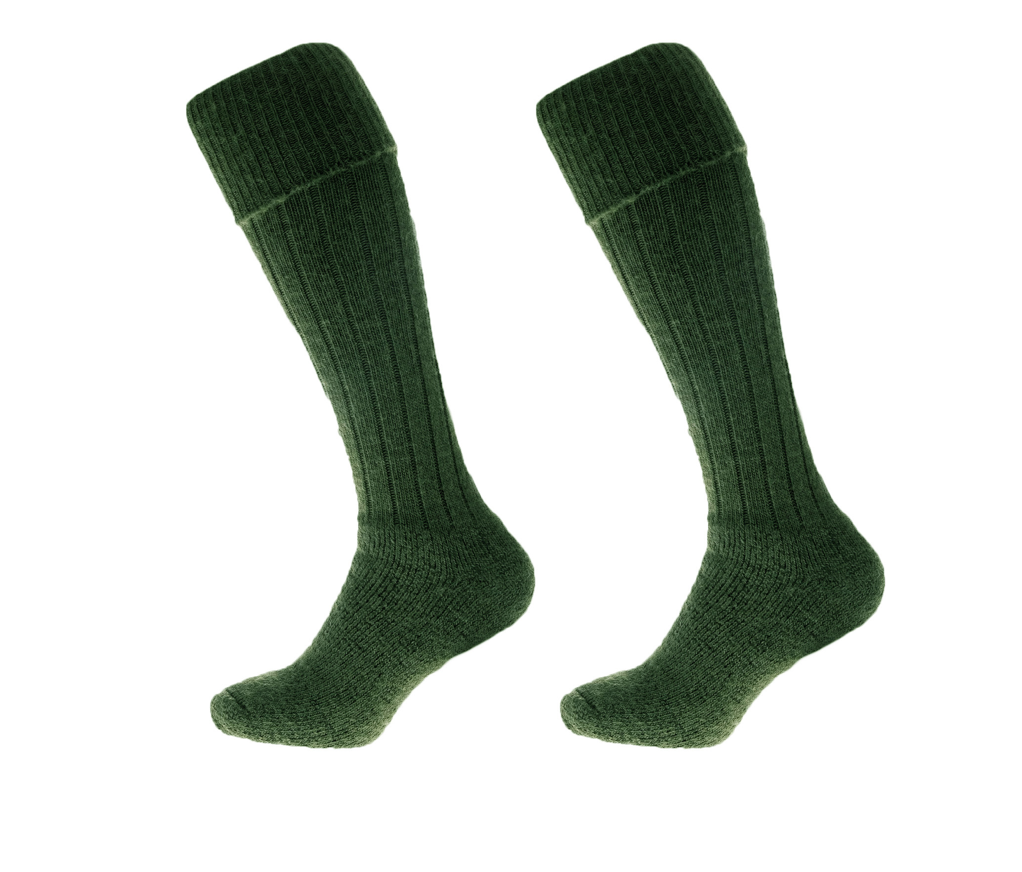 Alpaca Wool Long Country Socks Green 75% Alpaca Wool cushioned sole and heel