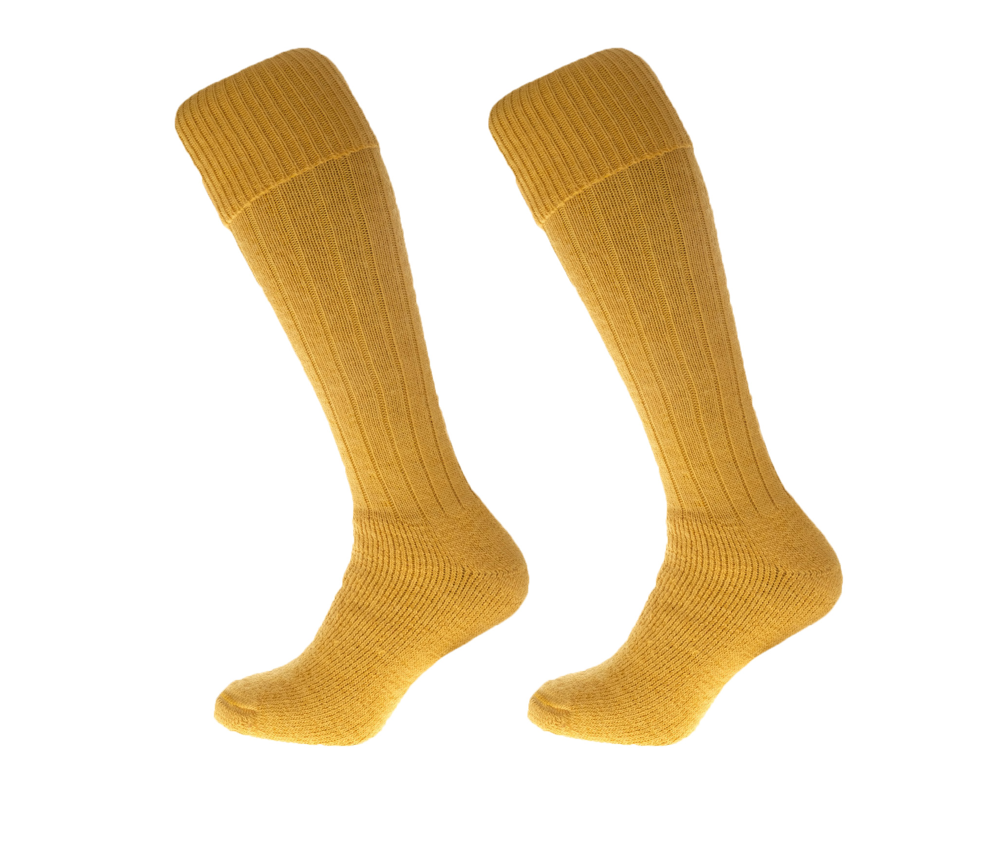 Alpaca Wool Long Country Socks Mustard Yellow 75% Alpaca Wool cushioned sole and Heel