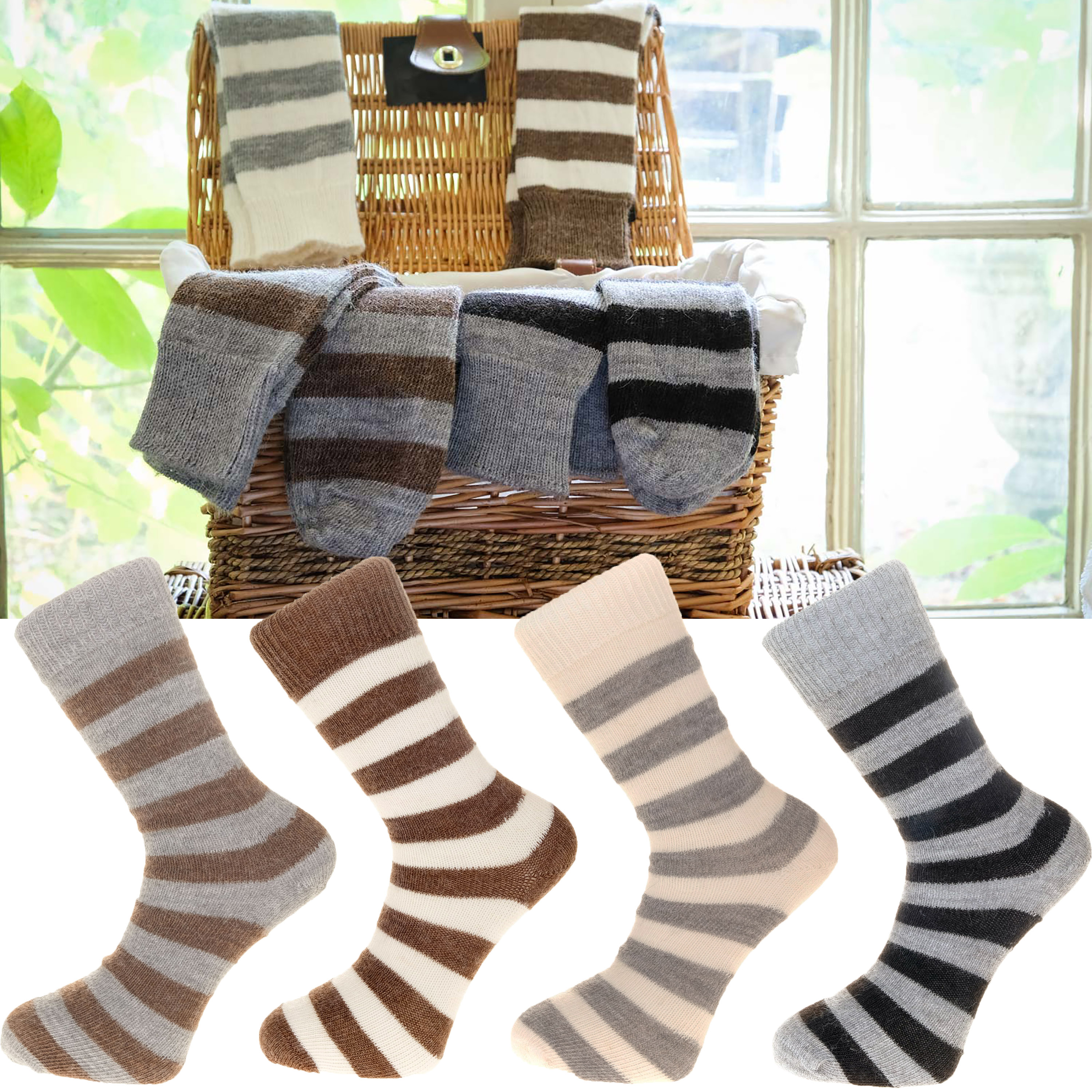 The Alpaca Every Day Socks Stripes