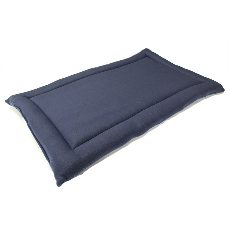 Blue Quilted Fleece Bed  Dog Pad