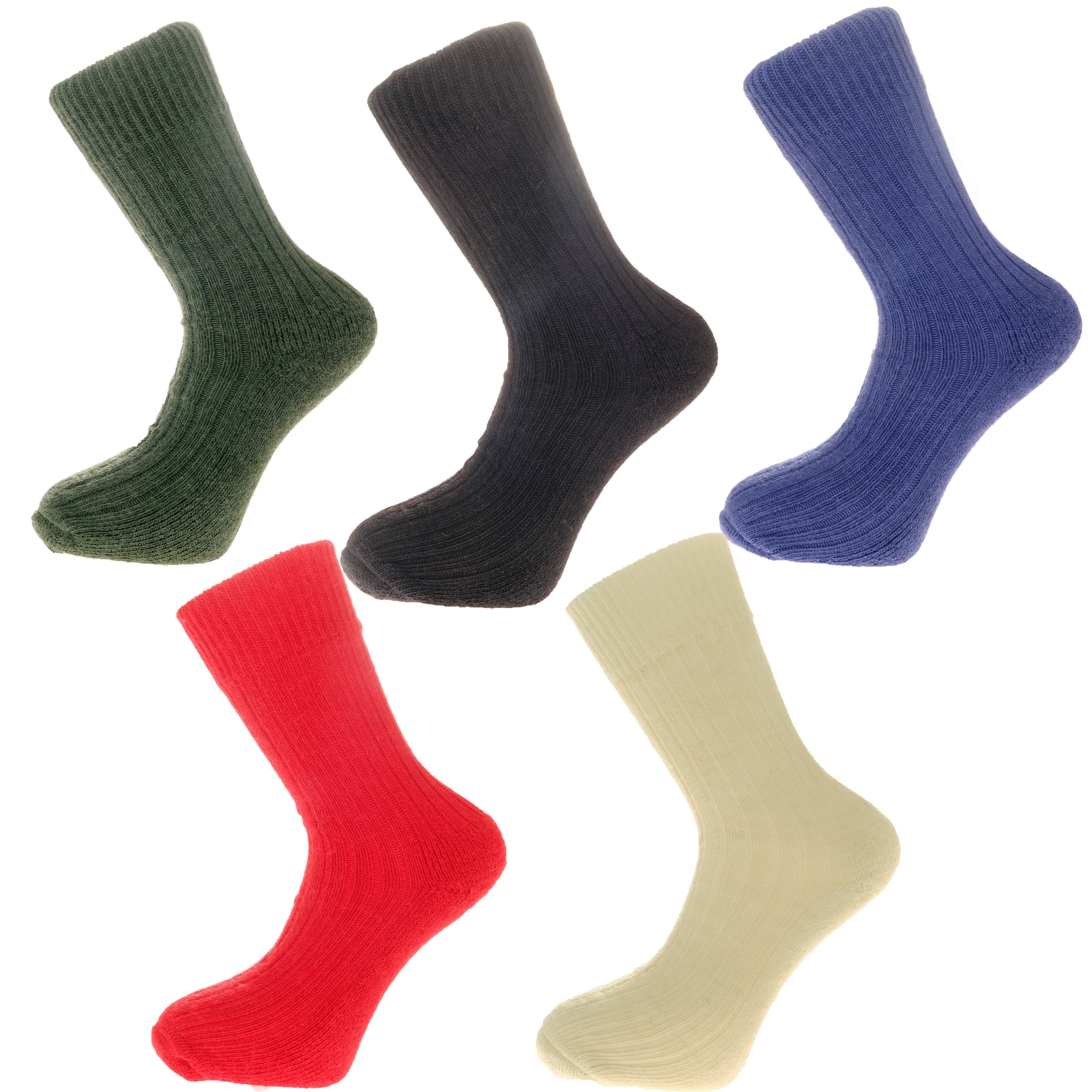 Gift Pack Idea G 5 pairs of Alpaca Walking Socks, Cushioned Sole, 75% Alpaca Wool. Alpaca Sock