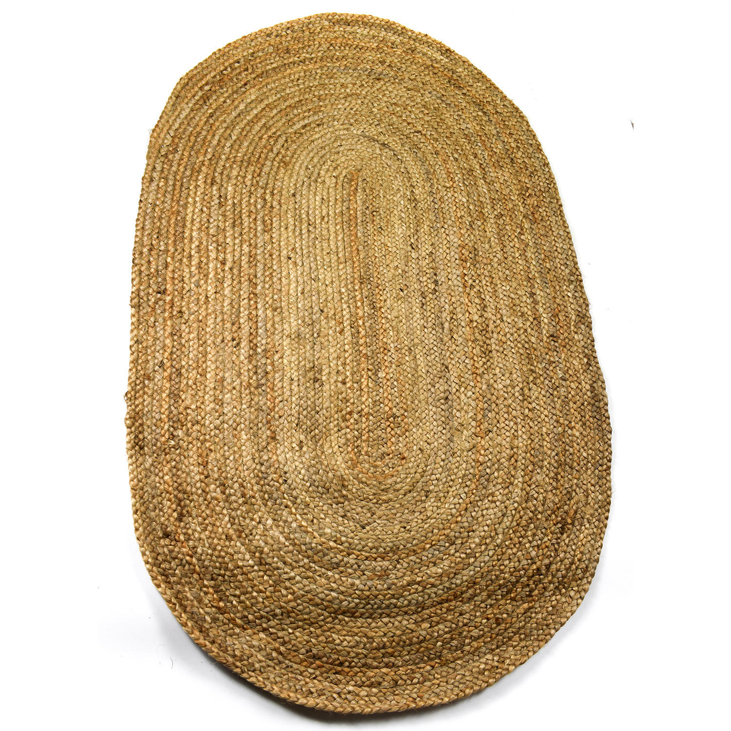 Oval Shaped 100% Jute Rug 5 Sizes Fair Trade