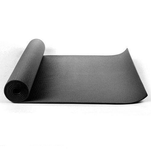 Black yoga mat 6mm THICK  183CM X 61CM  FREE BAG