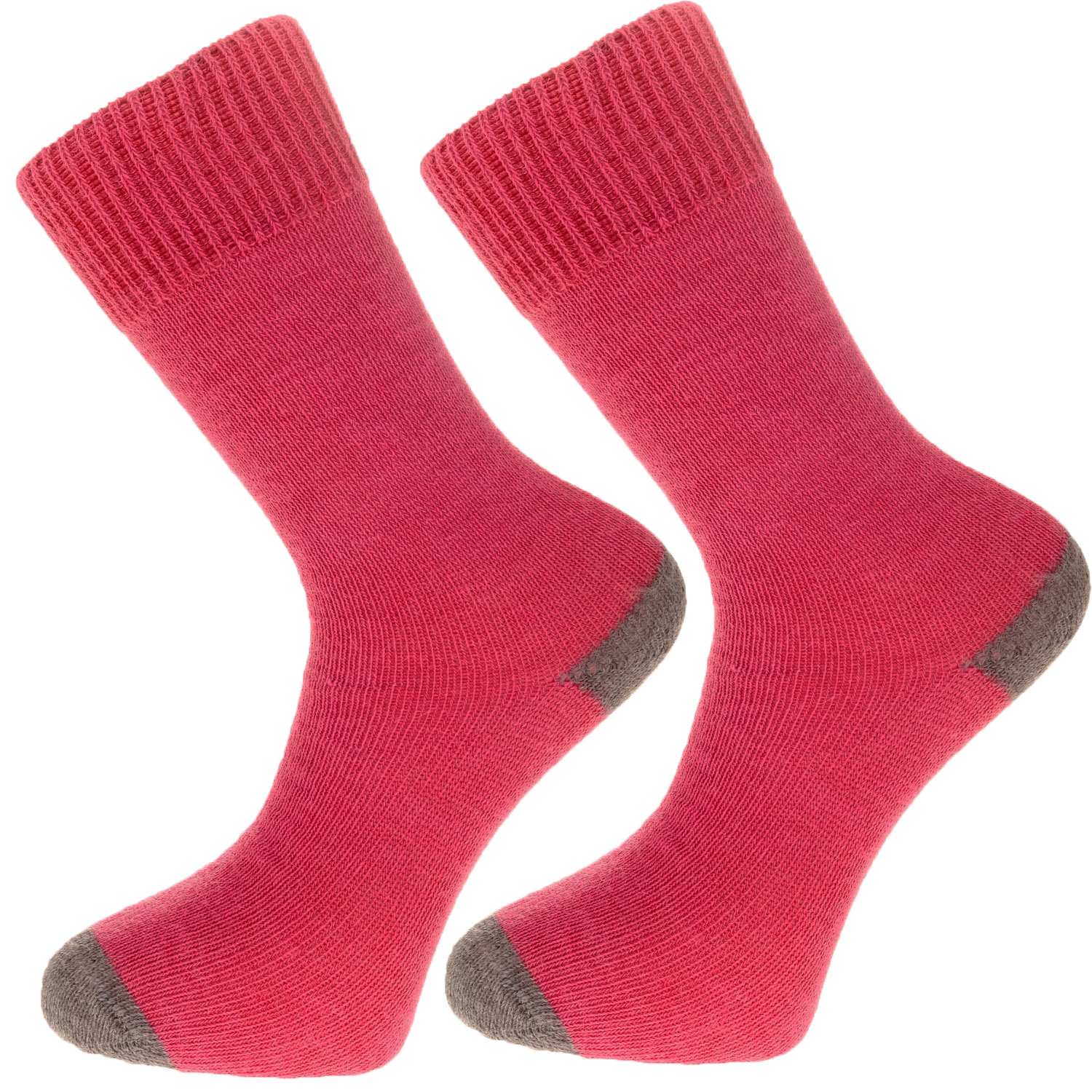The Alpaca Every Day Heel and Toe Contrast Socks Pink/Grey