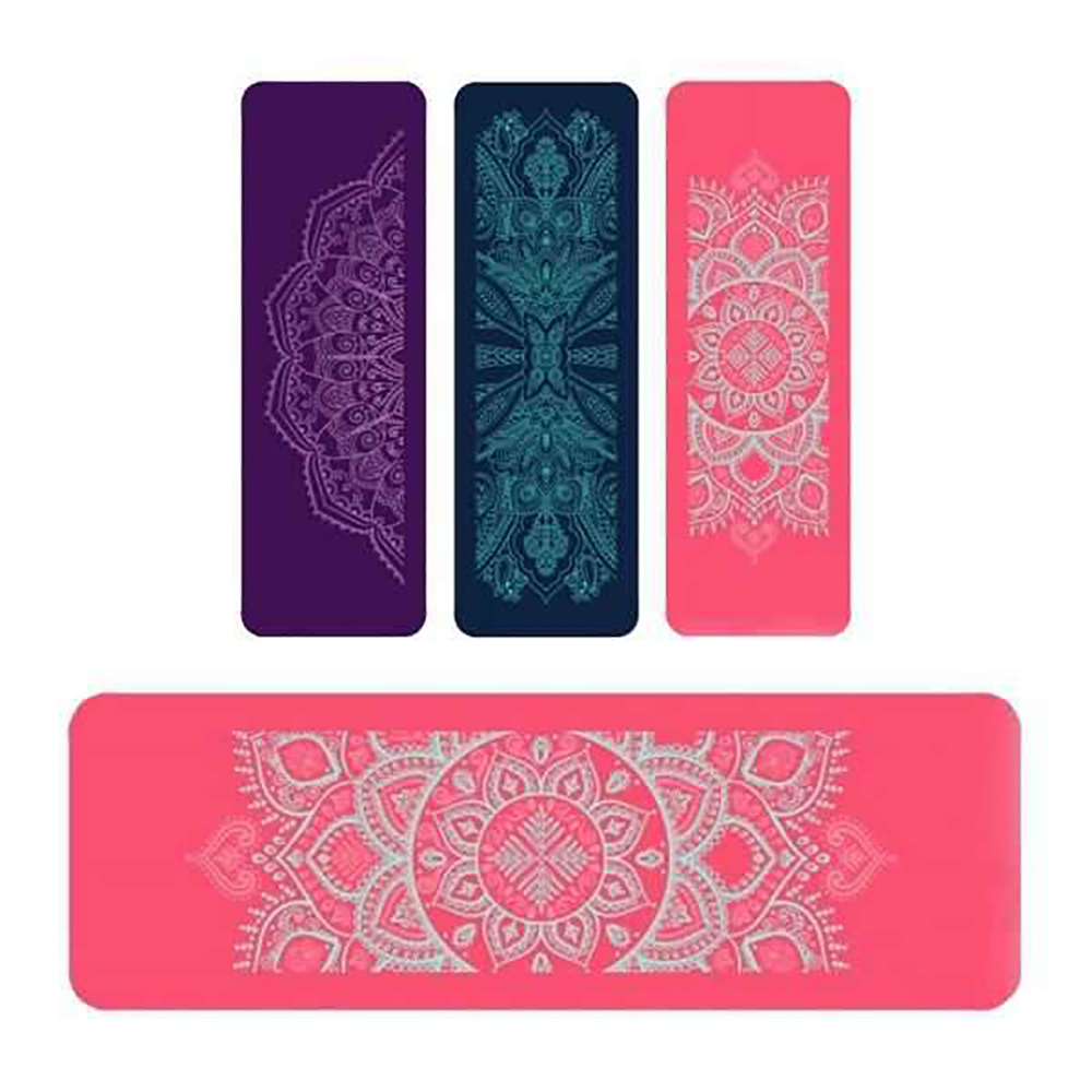Pink NBR Mandala 12mm Thick Exercise Fitness Gym Yoga Mat 190cm x 61cm