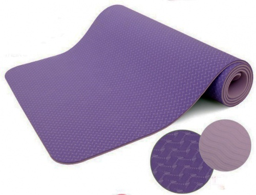 Purple Eco-friendly TPE yoga mat Pilates