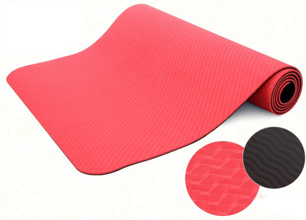 Red Eco-friendly TPE yoga mat Pilates