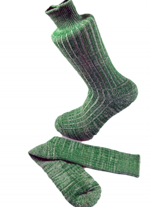 Combed Cotton Fleck Design Sock  Spring Green