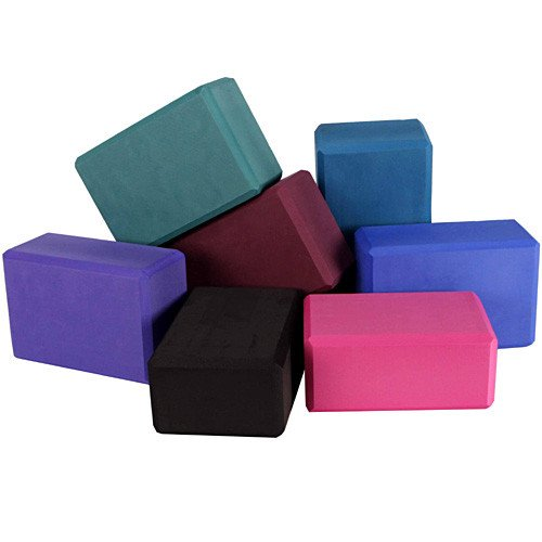 Yoga Block Pilates Foam Foaming Brick Stretch Health Fitness Exercise Gym Pink