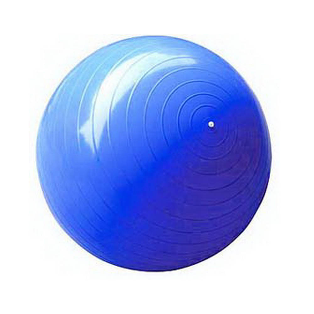 65cm BLUE Anti Burst Exercise Fitness Yoga Ball for GYM Pilates with FREE PUMP. New in Retail Box.