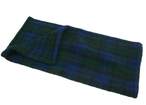 Soft Fleece Dog Pet Blankets & Throws 3 Sizes for Sofas in Cars warmth and comfort Blue Tartan