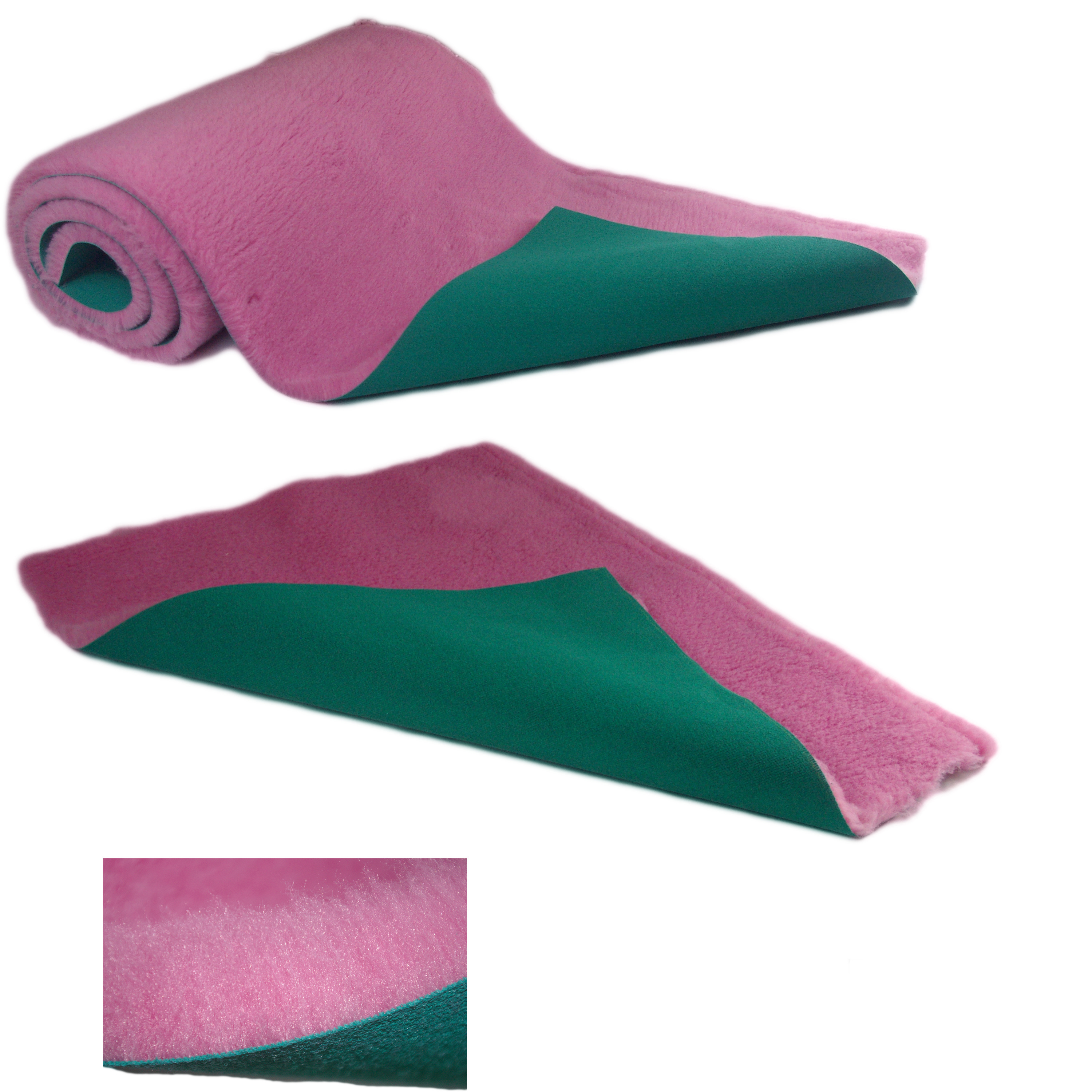 Traditional Pink Vet Bedding ROLL WHELPING FLEECE DOG PUPPY PRO BED