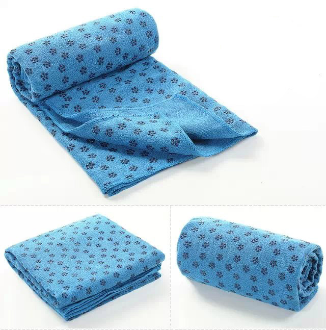 Blue Yoga Towel