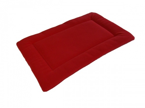 Red Quilted Fleece Bed  Dog Pad